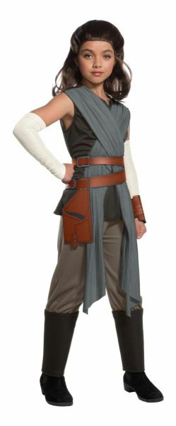 Rubies Star Wars Deluxe Rey The Last Jedi Child Girls Halloween Costume 640108