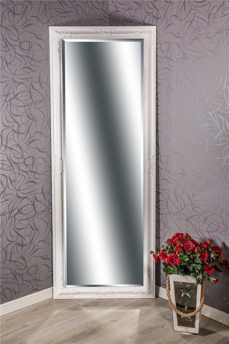Wandspiegel Barock weiß LYNETTE Ganzkörperspiegel 160 x 60 cm