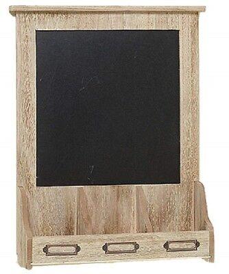Memotafel mit Ablagefach 30 cm x 41 cm Tafel Landhaus Stil Schlüsselfach