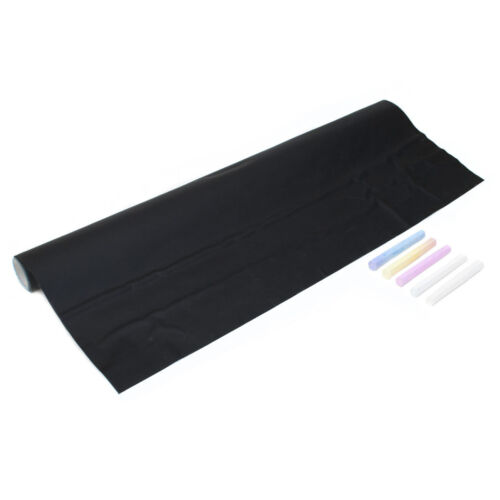 Tafelfolie selbstklebend Kreidelfolie Wandtattoo aus Vinyl 200 x 45cm Schwarz