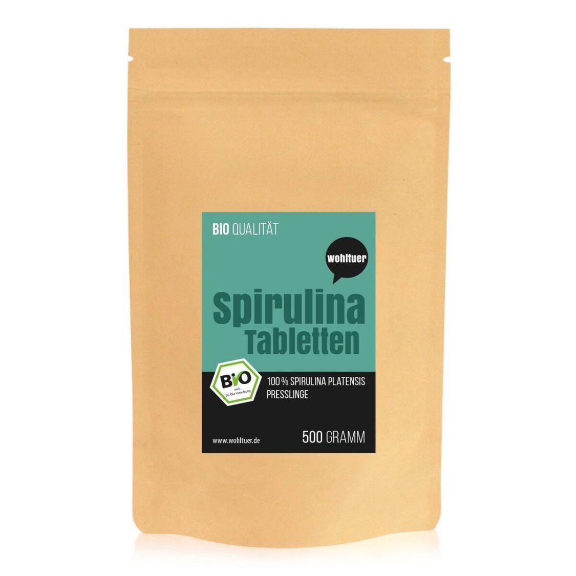 Wohltuer Bio Spirulina Tabletten Algen in Rohkostqualität 500g