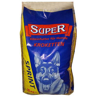10 kg Sprint Alleinfutter für Hunde Trockenfutter Kroketten Hundefutter Brocken