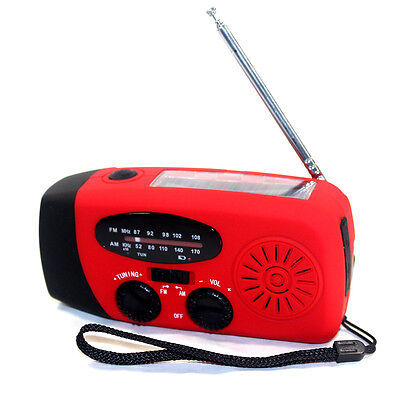 USB Solar Radio Dynamo Radio Kurbelradio mit LED Taschenlampe Ladegeräte Camping