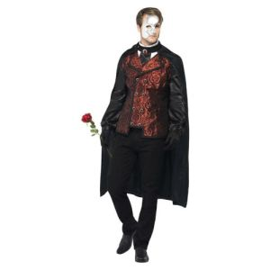 Phantom of the Opera Costume Adult Halloween Fancy Dress