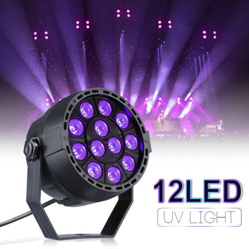 12W 12 LEDs UV Schwarzlicht DJ Disco Party DMX Licht Effekt Bühnenbeleuchtung DE
