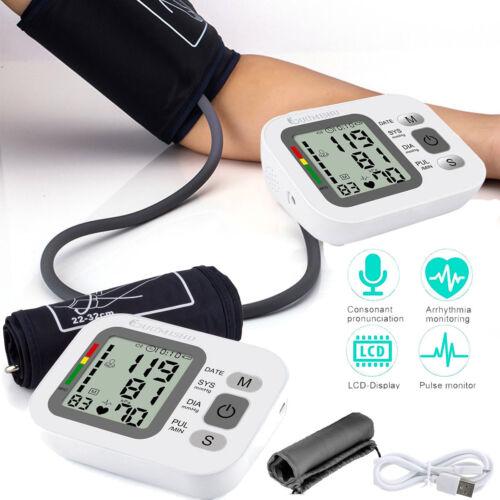 LCD Digital Blutdruckmessgerät Oberarm PC Langzeit Software USB Blutdruck Gerät