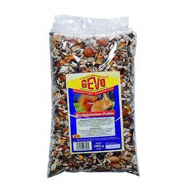 1 Kg GEVO Eichhörnchenfutter - Eichhörnchen Futter - Futter für Eichhörnchen