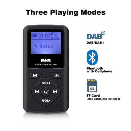Tragbar Digital DAB FM Radio 32G Bluetooth MP3 Player + Kopfhörer Taschenradio