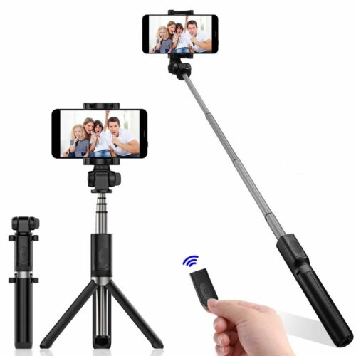 Mini Bluetooth Selfie Stick Stange Stativ Monopod Smartphone Handy Halterung 12