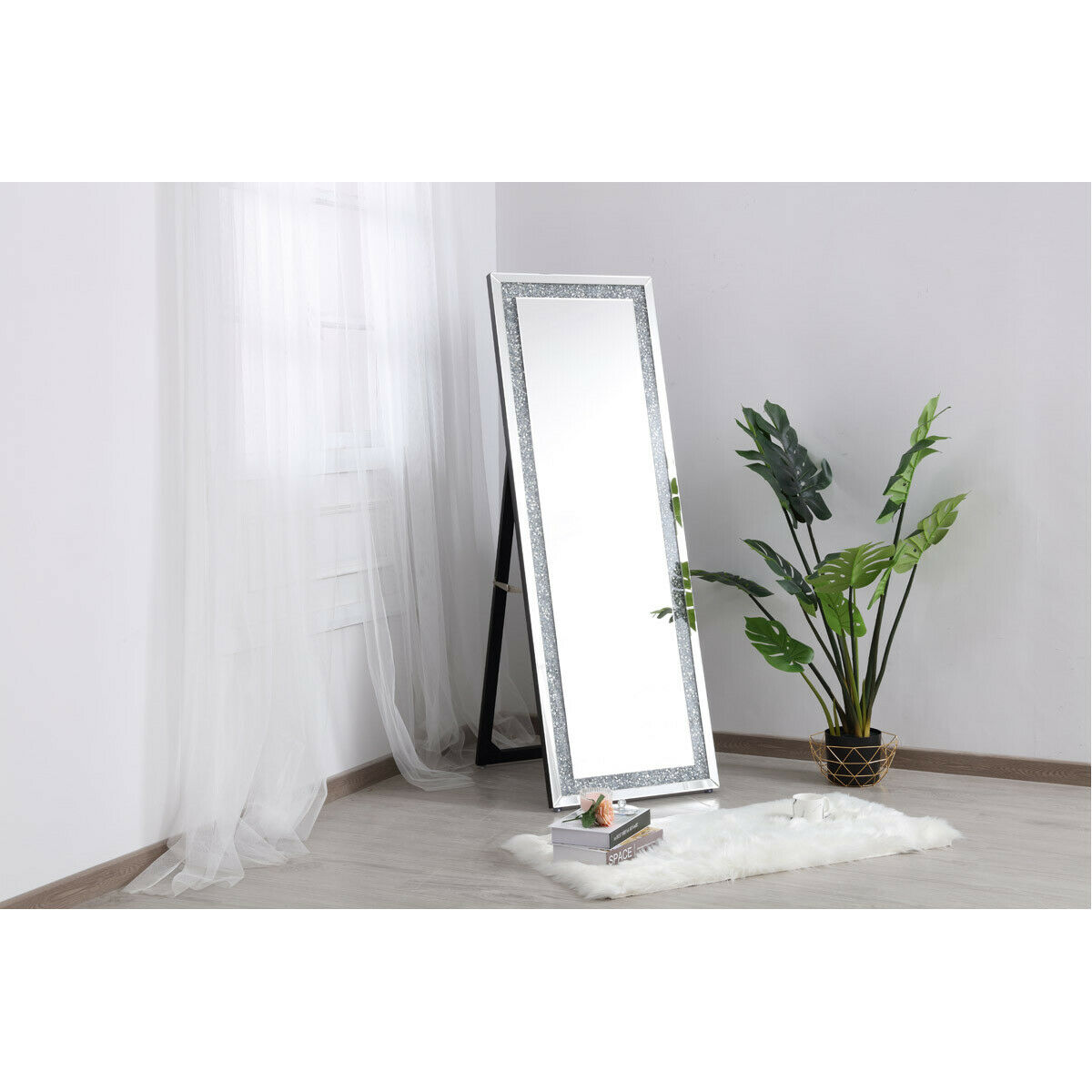 floor mirror free standing embedded