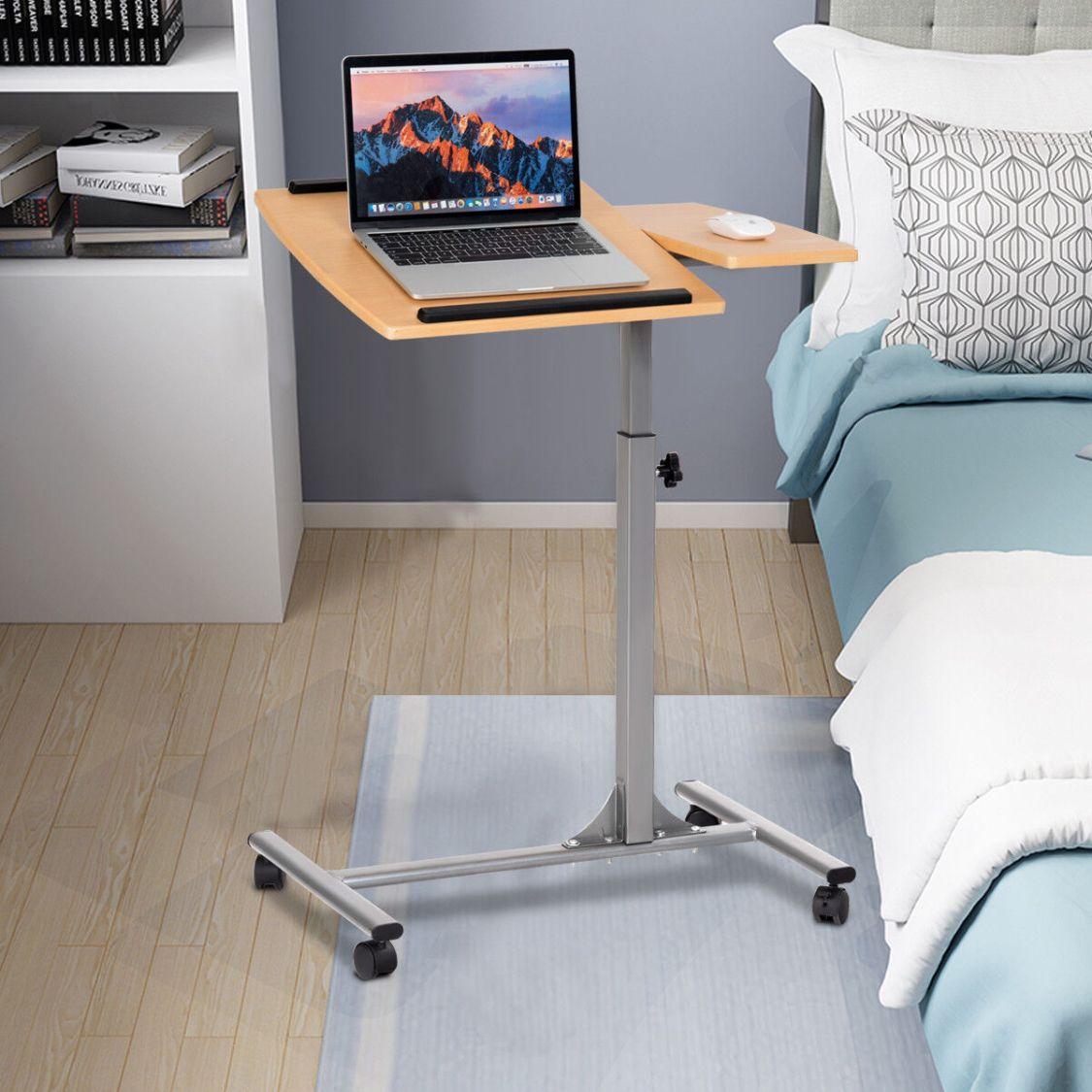 Laptoptisch Betttisch Notebooktisch Pflegetisch mit Rollen Höhenverstellbar