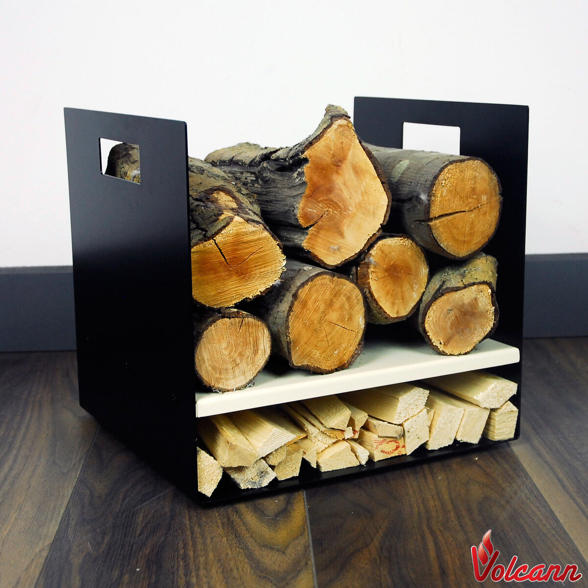 Compact 32cm Modern Firewood Log Basket Carrier For