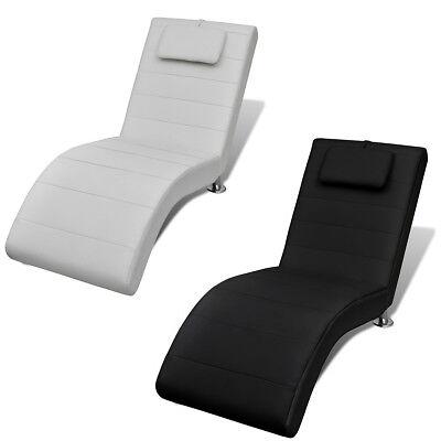 vidaXL Relaxliege Kissen Chaiselongue Liegesessel Sessel Liege Weiß/Schwarz