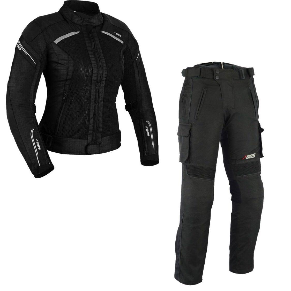 Damen Motorrad Kombi Damen Motorradkombi.Textil Jacke+Hose Mit Protektoren Kombi