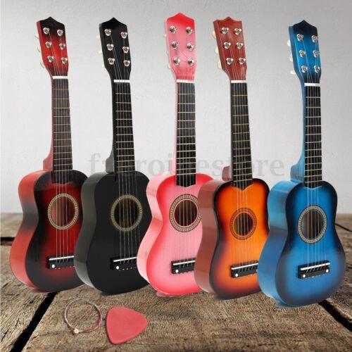 21'' Kinder Akustik Gitarre 6 Saiten Training Kindergitarre Spielzeug 5 Farben W