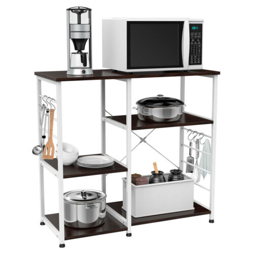 4 tier microwave stand oven cart bakers