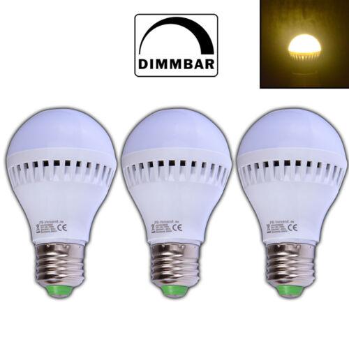 3x dimmbare E27 5 Watt LED Birne matt warmweiß Leuchtmittel Dimmer Lampe
