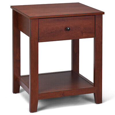 2-Set Nightstand Sofa Side Table Display Stand Multipurpose Bedside w/ Drawer 5