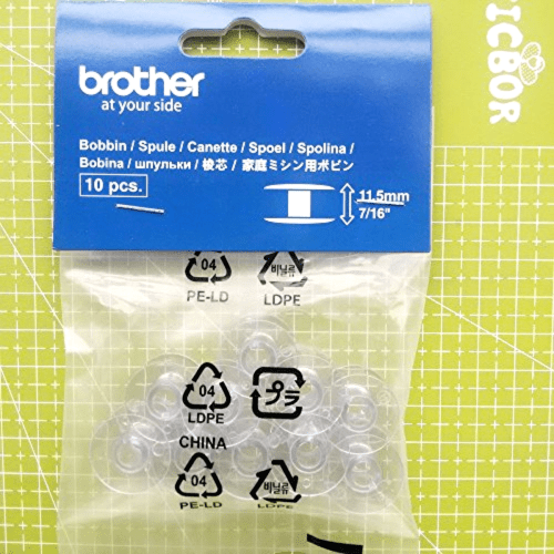 Brother SA156 Top Load Bobbins 10 pack new beautiful