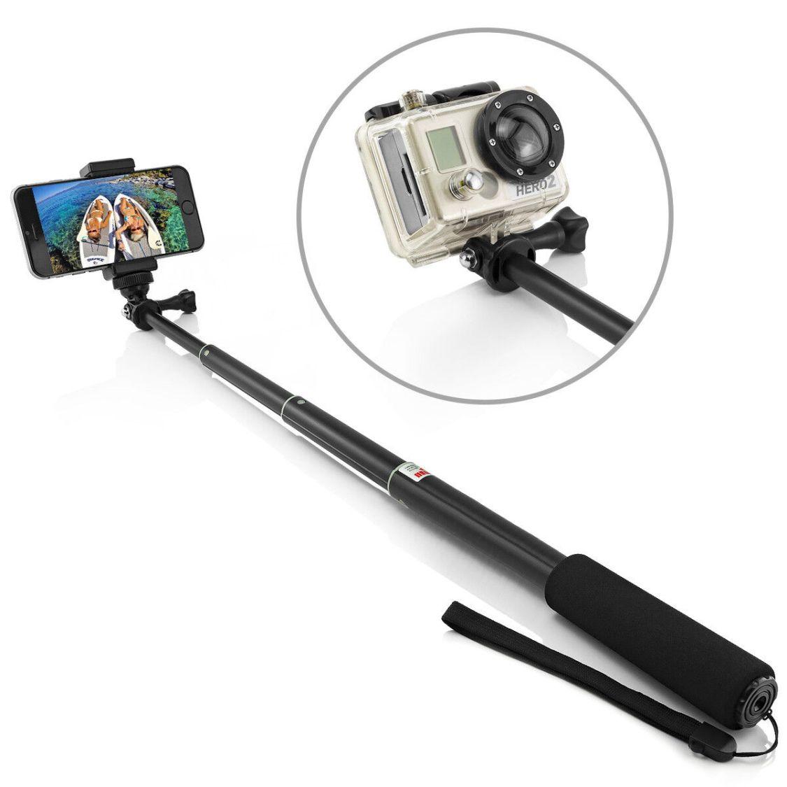 Selfiestick Selfie Stick Stange Handy Smartphone GoPro Hero 4 Monopod Cam Camera