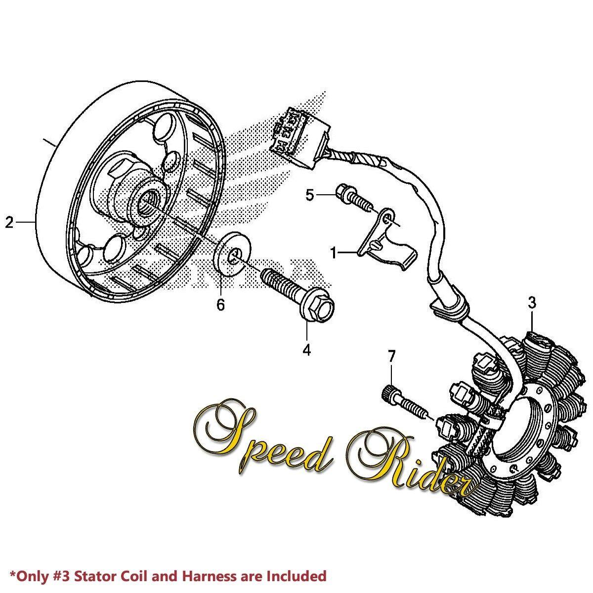 Honda Cbr Rr Lead Wire Magneto Coil