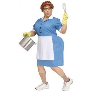 Lunch Lady Costume Adult Halloween Fancy Dress