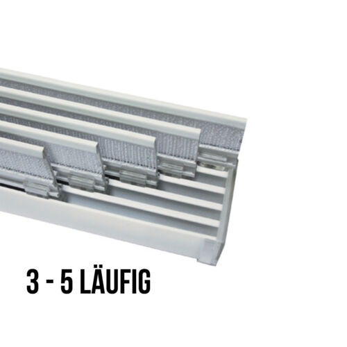 Gardinia Flächenvorhangschiene Komfort Komplett Set 3-5 läufig, Schiebegardine