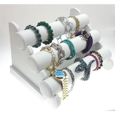Schmuckständer Armbandständer Armbandhalter Uhrenaufsteller Organizer weiß