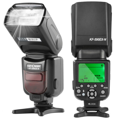 K&F Concept Blitz Blitzgerät Speedlite Flash i-TTL für Nikon DSLR Kamera KF-590N
