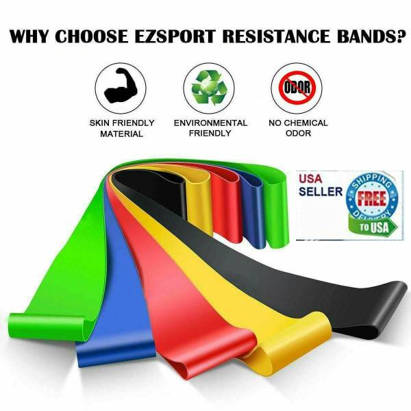 Resistance Bands Loop Set 5 Legs Exercise Workout CrossFit Fitness Yoga Booty 1