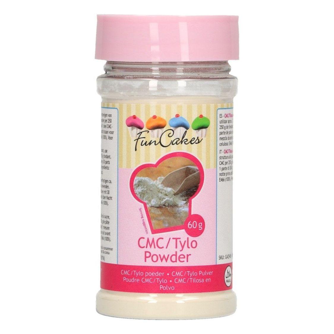 Funcakes 60 g CMC Kleber Fondant Blütenpaste Zuckerkleber Stabilisator E 466