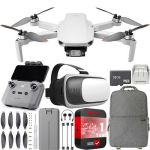 DJI Mini 2 Drone 4K Video Quadcopter + Backpack & FPV Headset Accessories Bundle