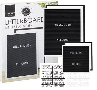 Letter Board Stecktafel Memoboard Messageboard schwarz oder weiß versch. Größen