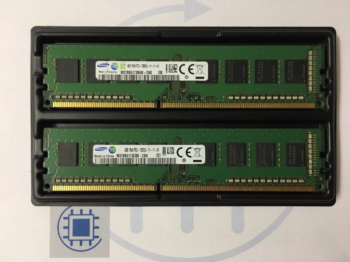 8GB (2x 4GB ) DDR3 PC3 12800U 1600MHz Arbeitsspeicher Samsung Desktop RAM