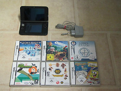 Nintendo 3DS XL 3 DS XL mit Zubehörpaket + 2 Gratis Spiele