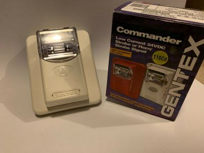 *NIB* *New* Gentex ST24-110WW Commander Fire Alarm Remote Strobe White