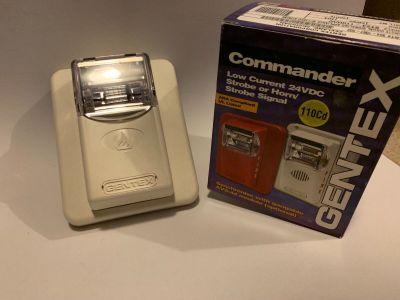 *NIB* *New* Gentex ST24-110WW Commander Fire Alarm Remote Strobe White