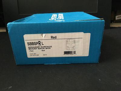 *NIB* *New* System Sensor SBBSPRL Fire Alarm Speaker Surface Mount Back Box QTY