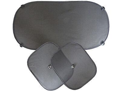 Autosonnenschutz Set 3 tlg.Auto Sonnenblende 2xSeiten und Heckscheibe für Kinder