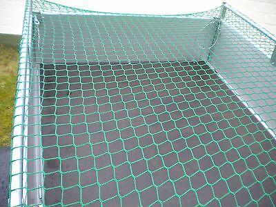 Anhängernetz mit Expanderseil 2,7 x 1,5 m knotenlos 45mm 270x150cm Abdecknetz