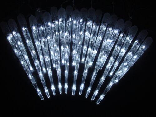 LED Eiszapfen-Lichterkette Innen-u. Außenbereich 20 Eiszapfen kalt-weiß