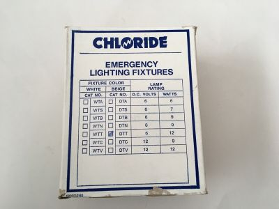 *NIB* *New* Chloride Systems DTT Emergency Lighting Fixture