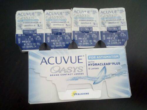 Acuvue Oasys for Astigmatism-Wochenlinsen weich, 4 Stück D -3,25 CYL -2.25
