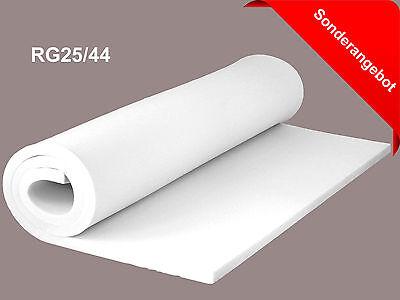 Schaumstoff Schaumstoffplatte RG25/44 Schaum Polster 200 cm x 120 cm