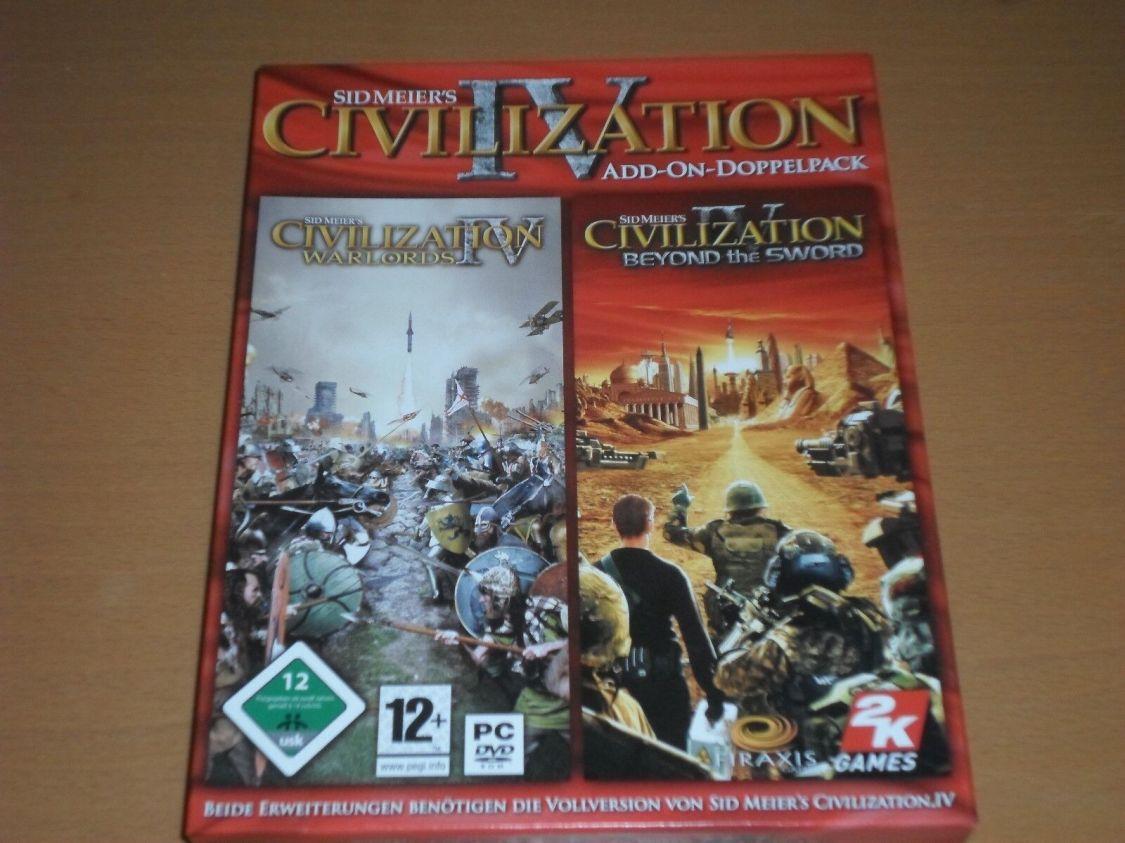 Sid Meier's Civilization IV: Add-On-Doppelpack für PC 2008 gebraucht ANSEHEN !!!