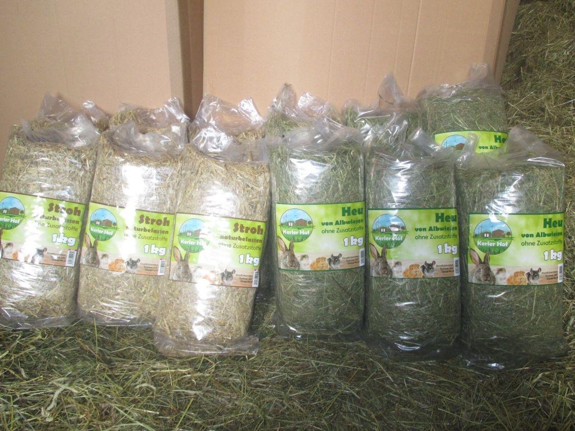 Heu und Stroh 15 kg Qualität von der schwäbischen Alb für Nager Kaninchen