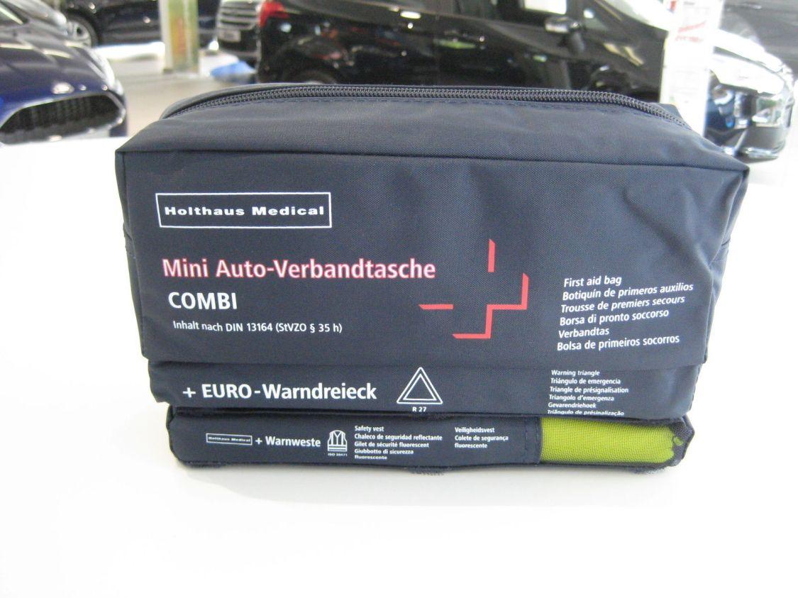 Holthaus Mini Auto-Verbandtasche mit Warndreieck & Weste Inhalt nach DIN 13 164