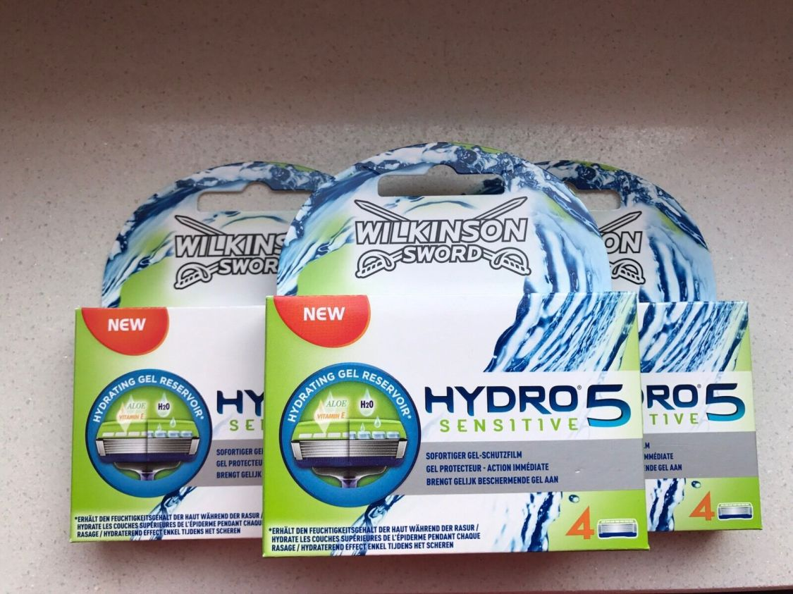12  Wilkinson Sword Hydro 5 Sensitive Rasierklingen Neu / OVP