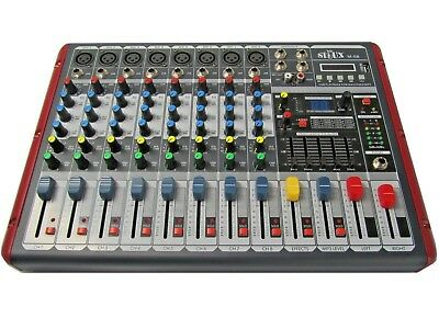DJ PA 8 Kanal Mixer Mischpult Verstärker Party Mobil Stereo USB MP3 Player Sioux
