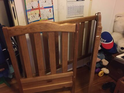Australiana Heirloom Timber Baby Cot Mattress Change Table